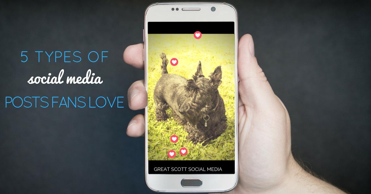 5 Types of Social Media Posts Fans Love blog